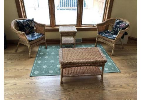 Plow & Hearth easy care resin wicker furniture